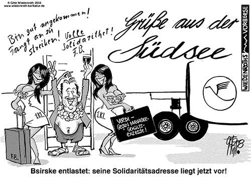 reisebuchungen und streik